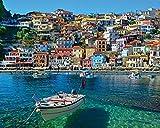 1000 piece puzzles large pieces - White Mountain Puzzles White Mountain Greece Parga - 1000 Piece Jigsaw Puzzle
