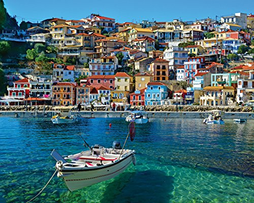 (White Mountain Puzzles White Mountain Greece Parga - 1000 Piece Jigsaw Puzzle)