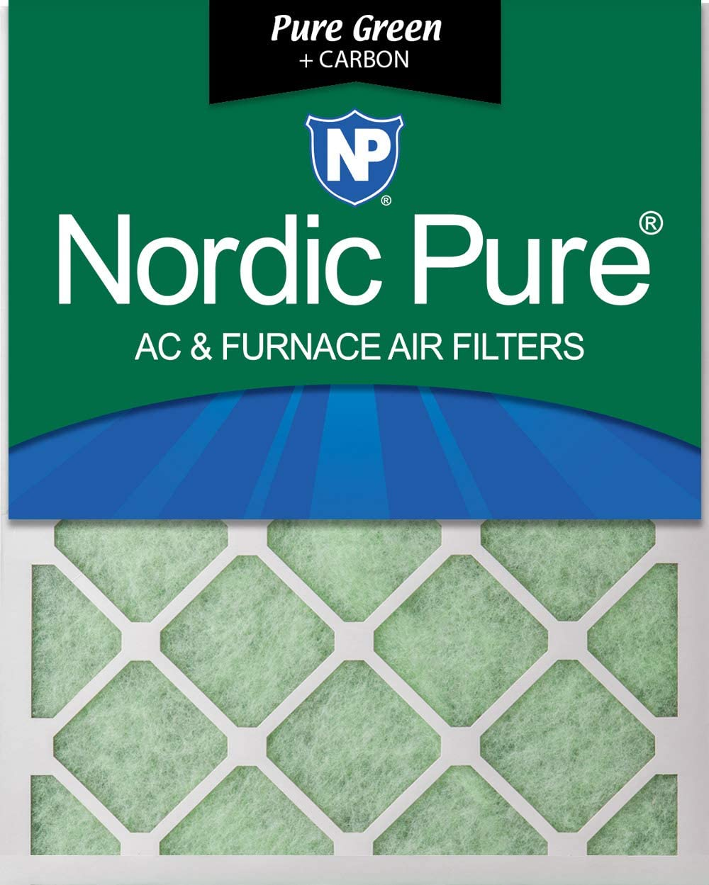 Nordic Pure 12x24x1 MERV 12 Pleated AC Furnace Air Filters 6 PACK 6 Pack 6 PACK
