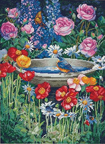 Dimensions Crafts NeedleCrafts Gold Collection Counted Cross Stitch, Garden Reflections