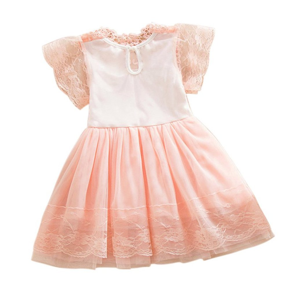 09e3e53d8 Amazon.com: 2Bunnies Girls Baby Girls Vintage Lace Eyelet Floral Flutter  Ruffle Sleeve Party Princess Flower Girl Dresses: Clothing