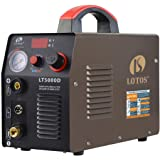 "LOTOS LT5000D 50A Air Inverter Plasma Cutter Dual Voltage 110/220VAC 1/2"" Clean Cut"