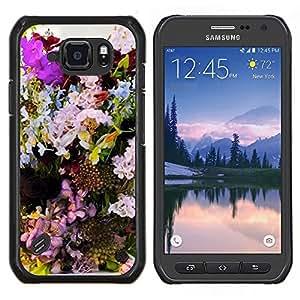 Caucho caso de Shell duro de la cubierta de accesorios de protección BY RAYDREAMMM - Samsung Galaxy S6Active Active G890A - Composición Decoración colorida
