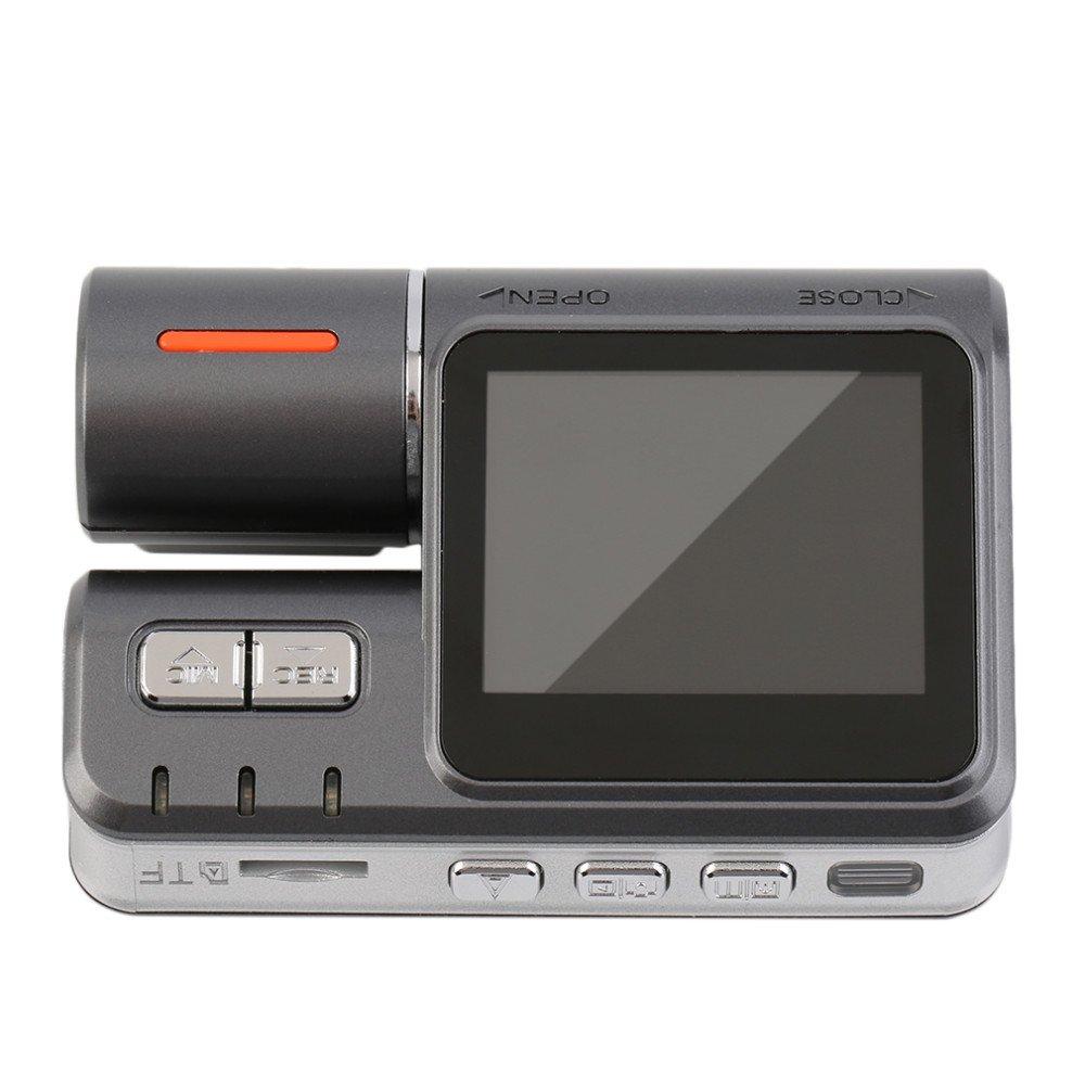 Vehicle Video Recorder Dash Cam Dual Lens 2.0 Inch Full HD 1080P Mini Car Camera DVR with Night Vision G-Sensor Tachograph Black Box for Car Driving Recorder MeetWorld MWI1000
