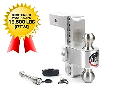 Stainless Steel Combo Ball Keyed Alike Key Lock and Hitch Pin 2 /& 2-5//16 8 Drop 180 Hitch w// 3 Shank//Shaft Adjustable Aluminum Trailer Hitch /& Ball Mount Weigh Safe LTB8-3-KA