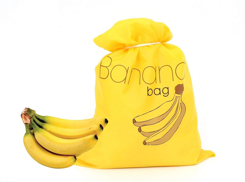 Bolsa de almacenamiento reutilizable para banana, color amarillo ...