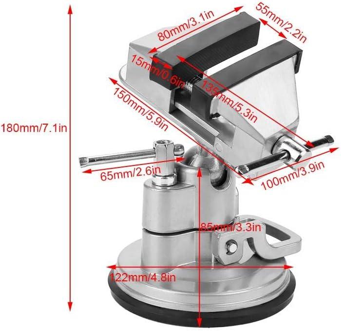 Bicaquu Universal Table Vise Pince De Travail Pivotant Rotatif DIY Artisanat