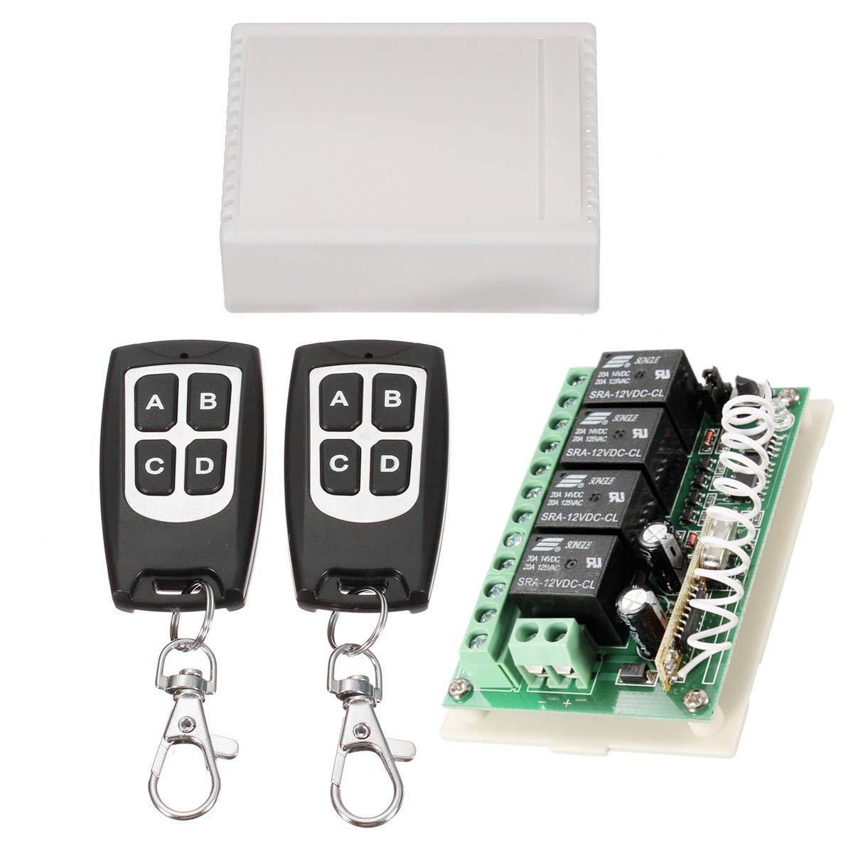 Insma 433mhz Wireless Rf Switch Long Range Dc 12v 4ch Channel Remote Control