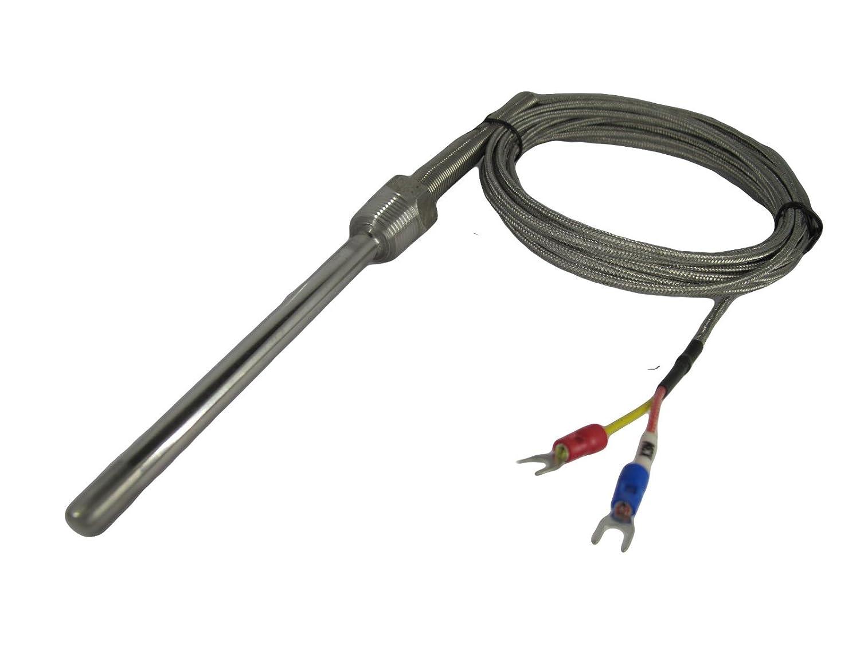 "K Type Thermocouple High Temperature Probe Sensors with 3//8/"" NPT /& 10 feet  Lead"