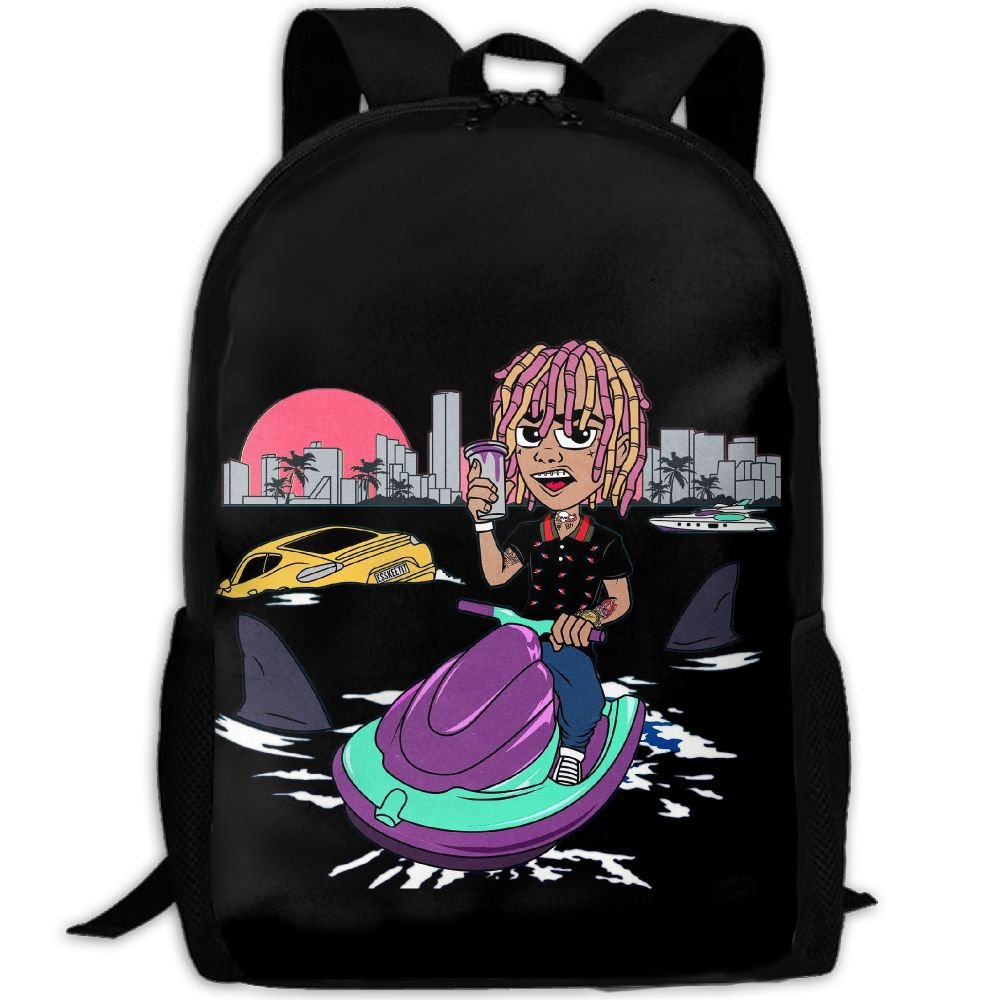 70aea77c7061 Amazon.com  KAGN Lil Pump Gang Logo Fashion Backpack College Bags Unisex   Sports   Outdoors