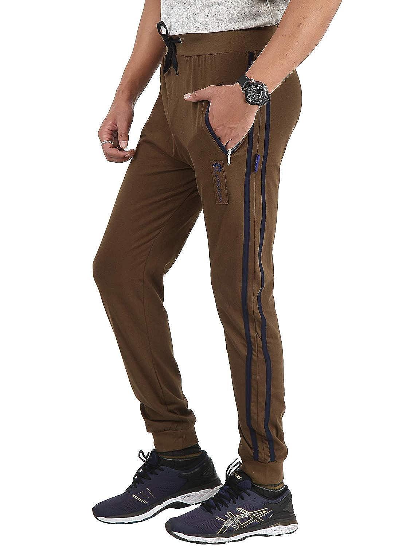 1d5683a52079d Zara enterprises Men's Stripped Beige Color Lower Trackpants Gym Wear Night  Wear Lounge Wear: Amazon.in: Clothing & Accessories