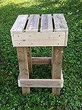 Repurposed Wood Stool, free shipping