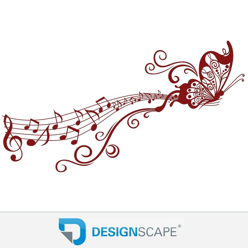 DESIGNSCAPE® Wandtattoo Schmetterling auf Notenlinie   Wandtattoo für Musikfans Musikfans Musikfans 120 x 65 cm (Breite x Höhe) weiss DW805111-M-F5 B07CHFC1FH Wandtattoos & Wandbilder a52c7a