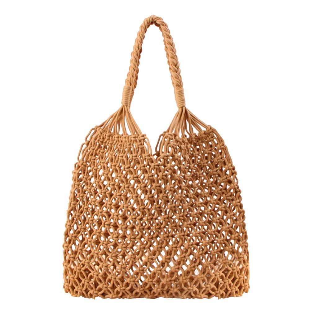 Amazon.com: Playa Mujer Paja Bolso De Mano woven bolsa Red ...
