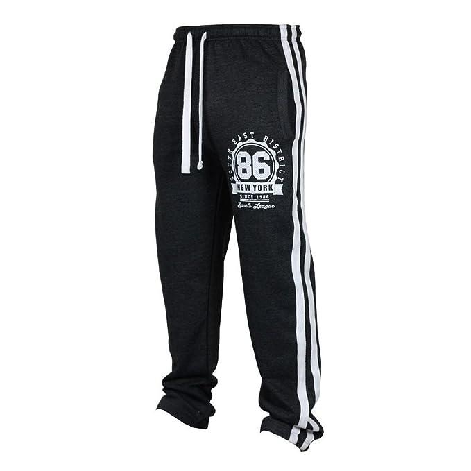 1bcced701 junkai Mens Sweatpants Sport Fitness Leisure Pants Long Hip Hop Tracksuit  Bottoms Sweatpants Gym Running Football Pants Jersey Jogger Pants M - 3XL