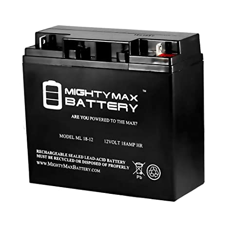 12v 18ah Battery >> Mighty Max Battery Ml18 12 12v 18ah Og165l Power Boss Briggs And Stratton Honda Generator Battery Brand Product