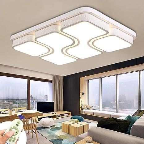 Miwooho 78w Modern Design Led Deckenlampe Dimmbar Mit Fernbedienung Led Deckenleuchte Wohnzimmer Lampe Schlafzimmer Kuche Leuchte Energieklasse A Amazon De Beleuchtung
