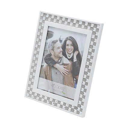 Amazon Woodart Wooden Picture Frame 5x7 White Diamond