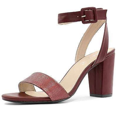 Allegra K Sandales Pour Femme - Rouge - Bordeaux, 37 EU