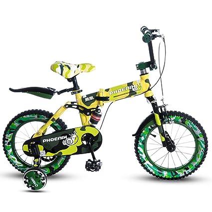 Fenfen Bicicleta Plegable para Niños 14/16 Pulgadas Bicicleta para Niños 3-4-