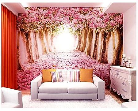 Ohcde Dheark Warm Romantic Cherry Trees, 3D Three-Dimensional Murals ...