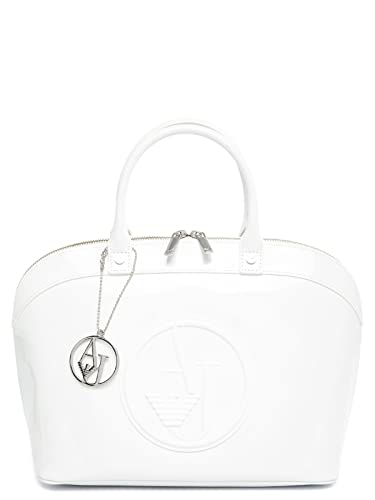 Armani Jeans Women s Top-Handle Bag White WHITE One size  Amazon.co ... 937136be9ed6d