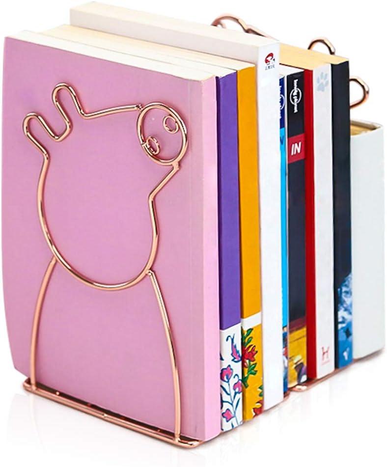 Book Ends - Metal Decorative Book Holder -Rose Gold Books dividers (Piggy)