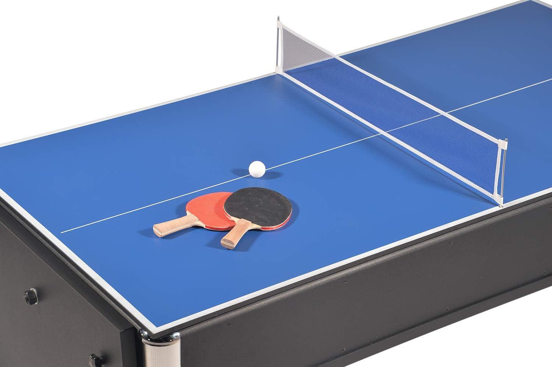 /Billar con bandeja para comer. Mesa de juegos 4/en 1/plegable Air Hockey/ /Ping Pong/