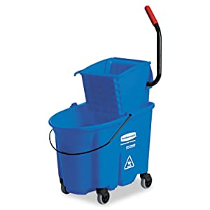 Rubbermaid Commercial RCP 7588-88 BLU WaveBrake Side-Press Wringer/Bucket Combo, 8.75 gal, Blue