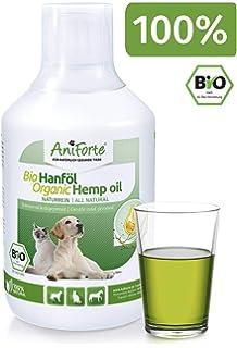 AniForte prensado en frío Aceite de semilla de cáñamo 500 kle Naturprodukt para perro, Gatos
