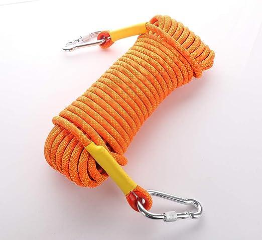 30 m 10 mm Longueur 10 m Warooma Corde de s/écurit/é pour Escalade en Plein air 50 m 10m//33ft Orange 20 m Corde de Sauvetage de s/écurit/é Accessoires descalade