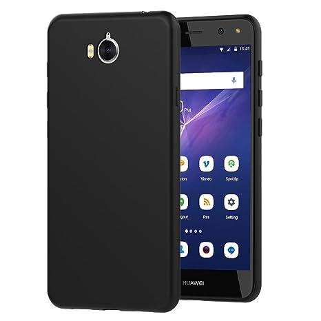 iVoler Funda Carcasa Gel Negro para Huawei Y6 2017, Ultra ...