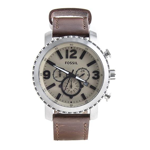 Reloj de pulsera hombre bq2101 Fossil marrón piel Cronógrafo Idea regalo