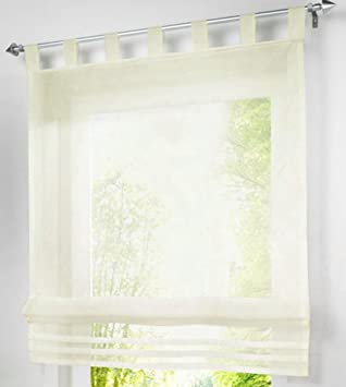 Amazonde Zebrasmile Farbe Tab Top Semi Sheer Küche Fenster Vorhang