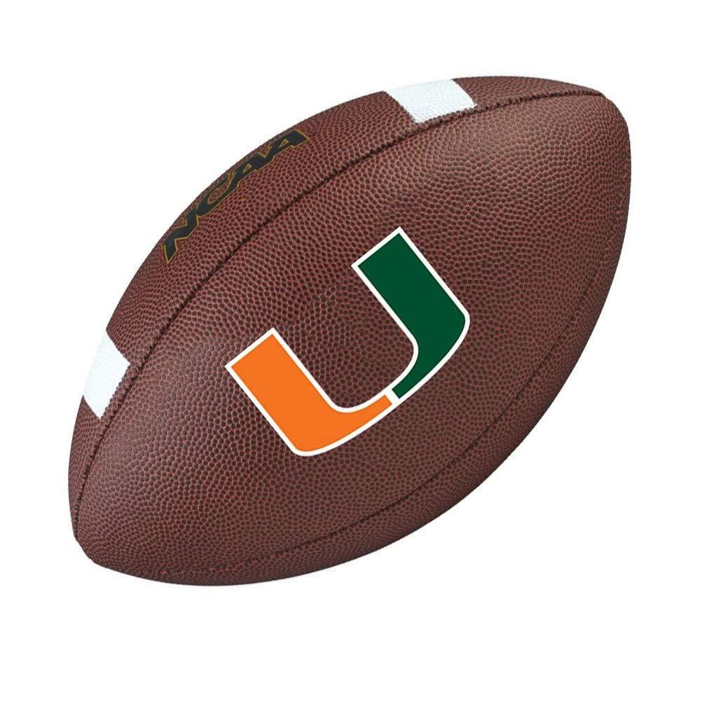 WILSON Miami Hurricanes NCAA official senior composite american football