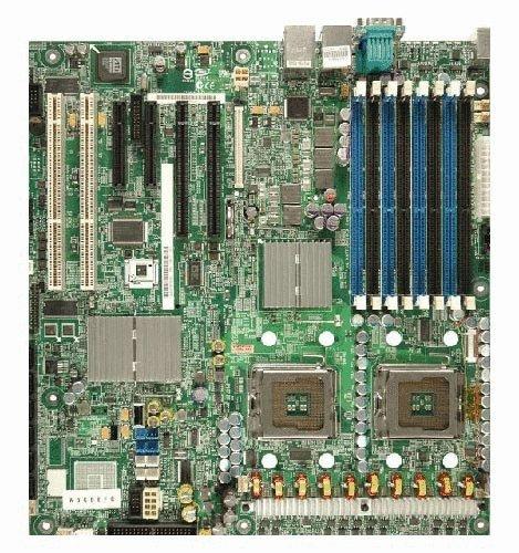 (Intel Dual LGA771 Xeon/Intel 5000P/FSB 1333/8DDR2-667/ATI ES1000/2GbE/ SSI EEB Server Motherboard - S5000PSLSATAR)