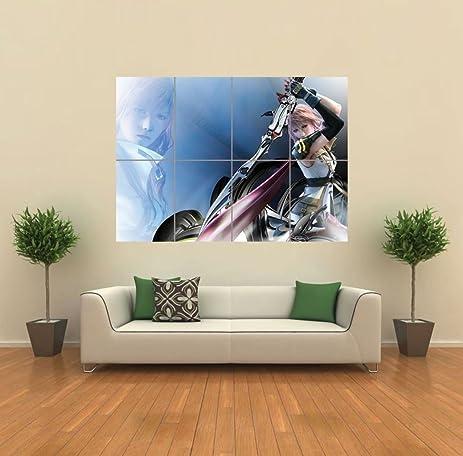 Amazon.com: LIGHTNING FINAL FANTASY XIII GIANT POSTER WALL ART ...