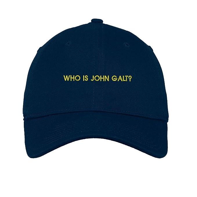 d6b966e3bab Amazon.com  Who is John Galt  Twill Cotton 6 Panel Low Profile Hat ...