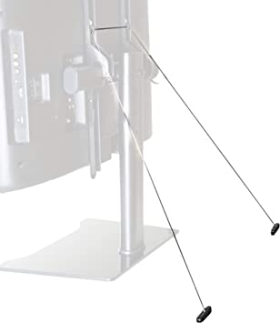 Vivo – Cable de acero sólido antivuelco de gran resistencia – Kit de seguridad, soporte para televisor de pantalla plana (Stand-sk01): Amazon.es: Electrónica