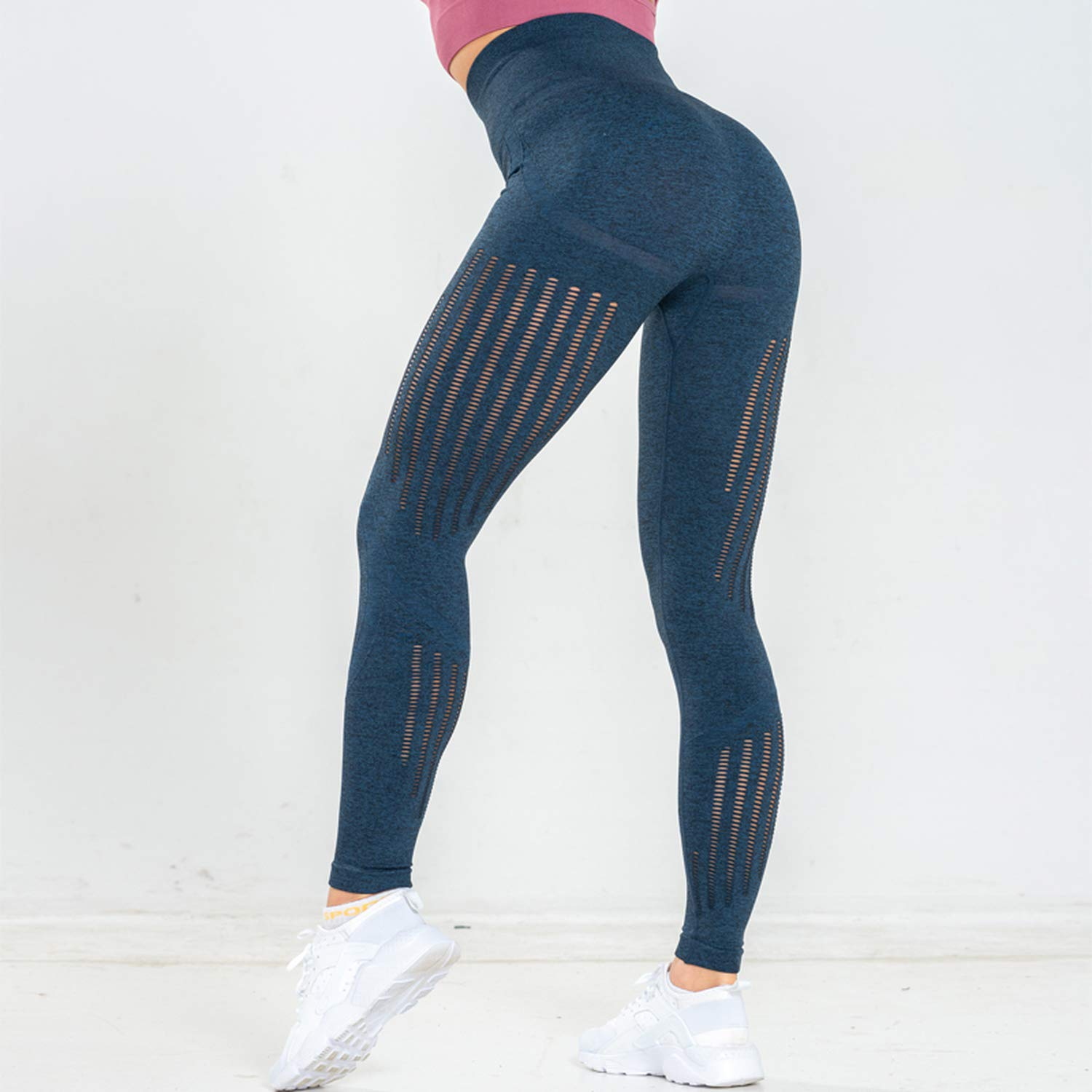 Amazon.com: Women Seamless Leggings Yoga Pants High Waist ...