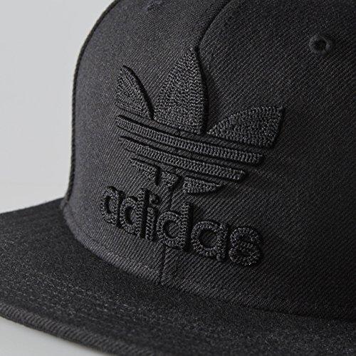 adidas Men's Original Trefoil Chain Snapback Cap Black/Black Hat One Size