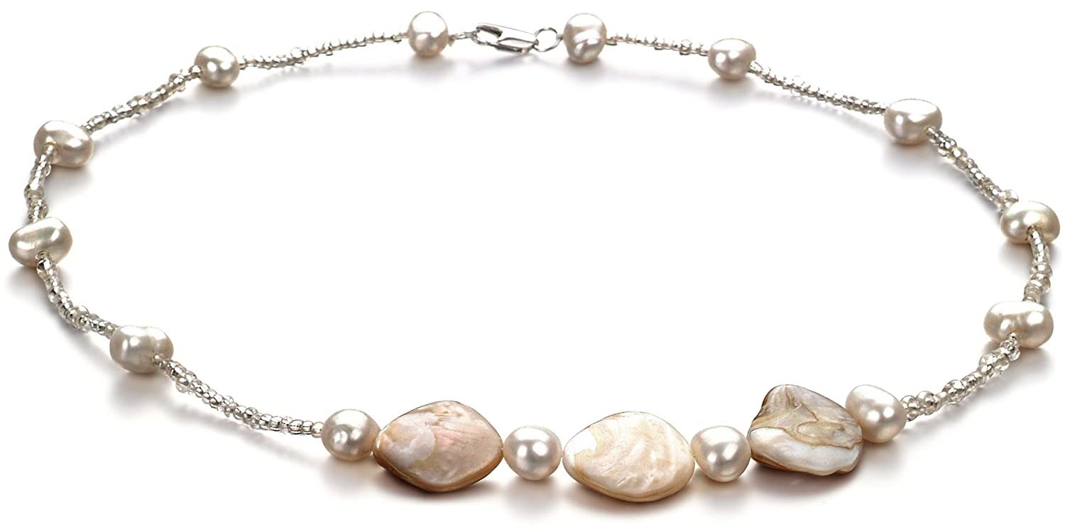 PearlsOnly - Ashley White 3.5-4mm A Quality Freshwater Cultured Pearl Necklace-17.5 in length CA-AMZ-FW-W-A-29-N-Ashley
