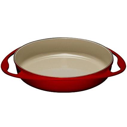 LE CREUSET 20129280602460 Bandeja Tarta TATIN, Hierro Fundido, Cereza, 28 cm