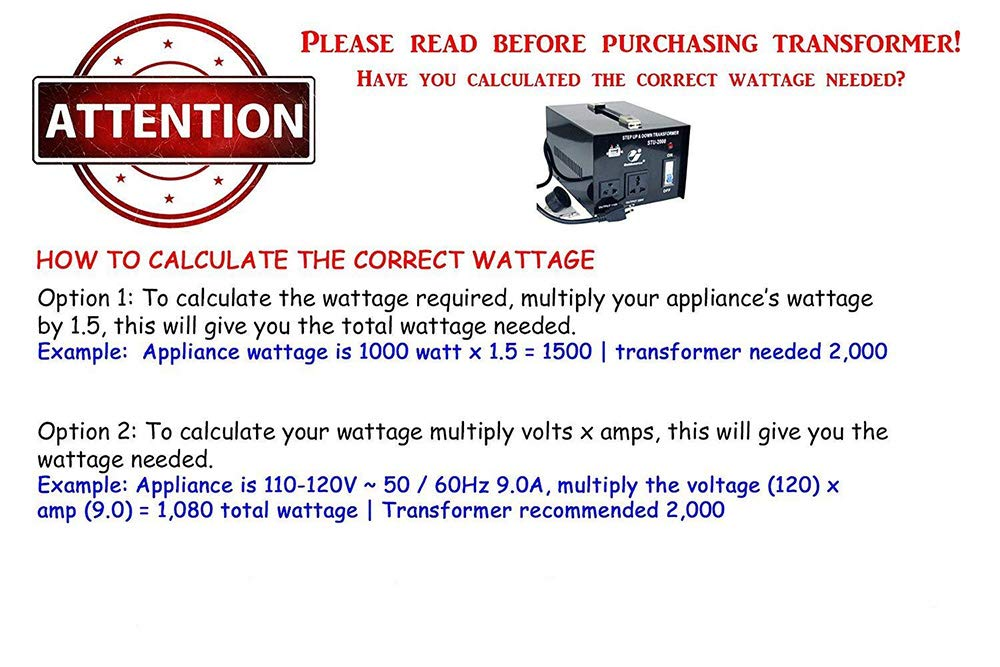 3000W Auto Step Up & Step Down Voltage Transformer Converter, ST-Pro Series Heavy-Duty AC 110/220V Converter with US Standard, Universal, Schuko AC Outlets & DC 5V USB Port by Goldsource by Goldsource (Image #4)