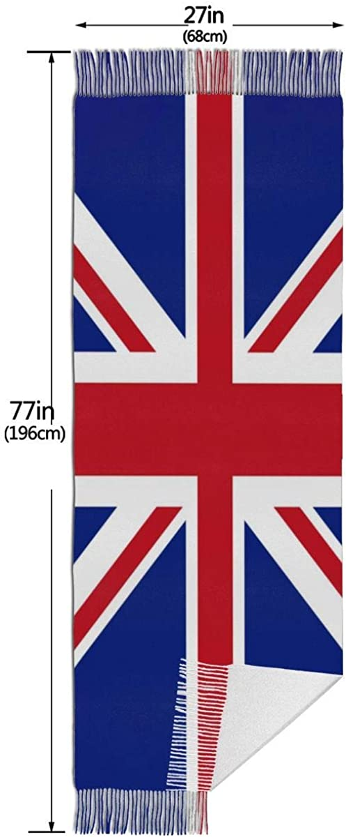 England Flag Warm Soft Cashmere Shawl Wrap Scarves Long Scarves For Women Office Worker Travel