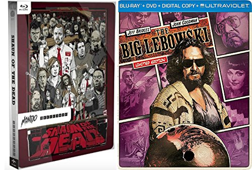 Mondo Steelbook SHAUN OF THE DEAD Exclusive Limited Edition Blu Ray & The Big Lebowski steelbook