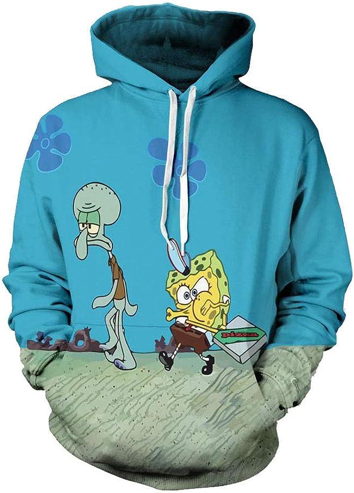Doppyee Hoodies Sweaters Mens Long Sleeve Black/&Yellow Printed Pullover Hooded Sweatshirt With Pockets