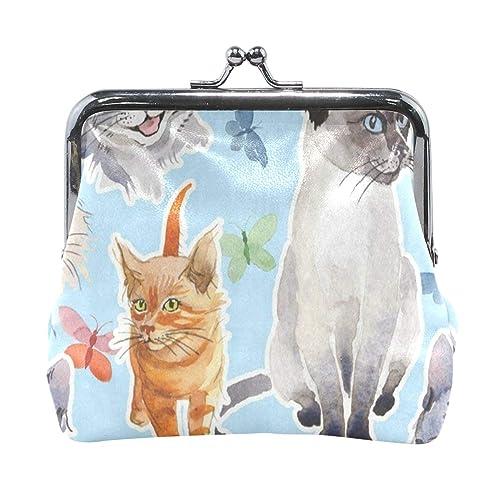 Amazon.com: Monedero de acuarela para gato, mariposa ...