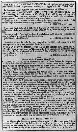 Photo  The Liberty Almanac 1847 Page With Slave Trade News