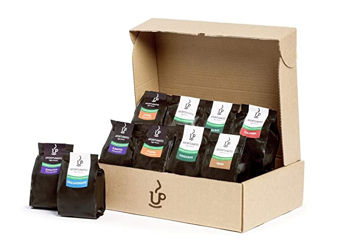 Afortunato, Degustación de Cafés varios Orígenes, Cápsulas Compostables Compatibles con Nespresso (100 Cápsulas